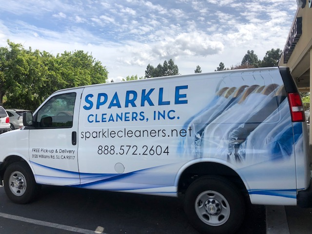 Sparkle Cleaners Delivery Van
